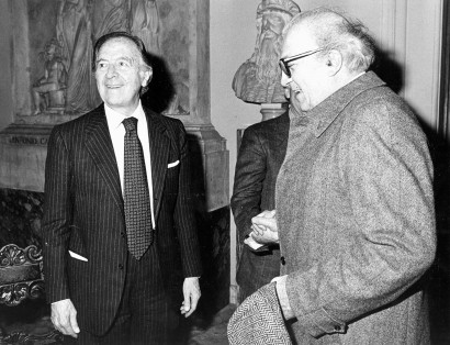 Pietro Barilla (on the left) with Federico Fellini