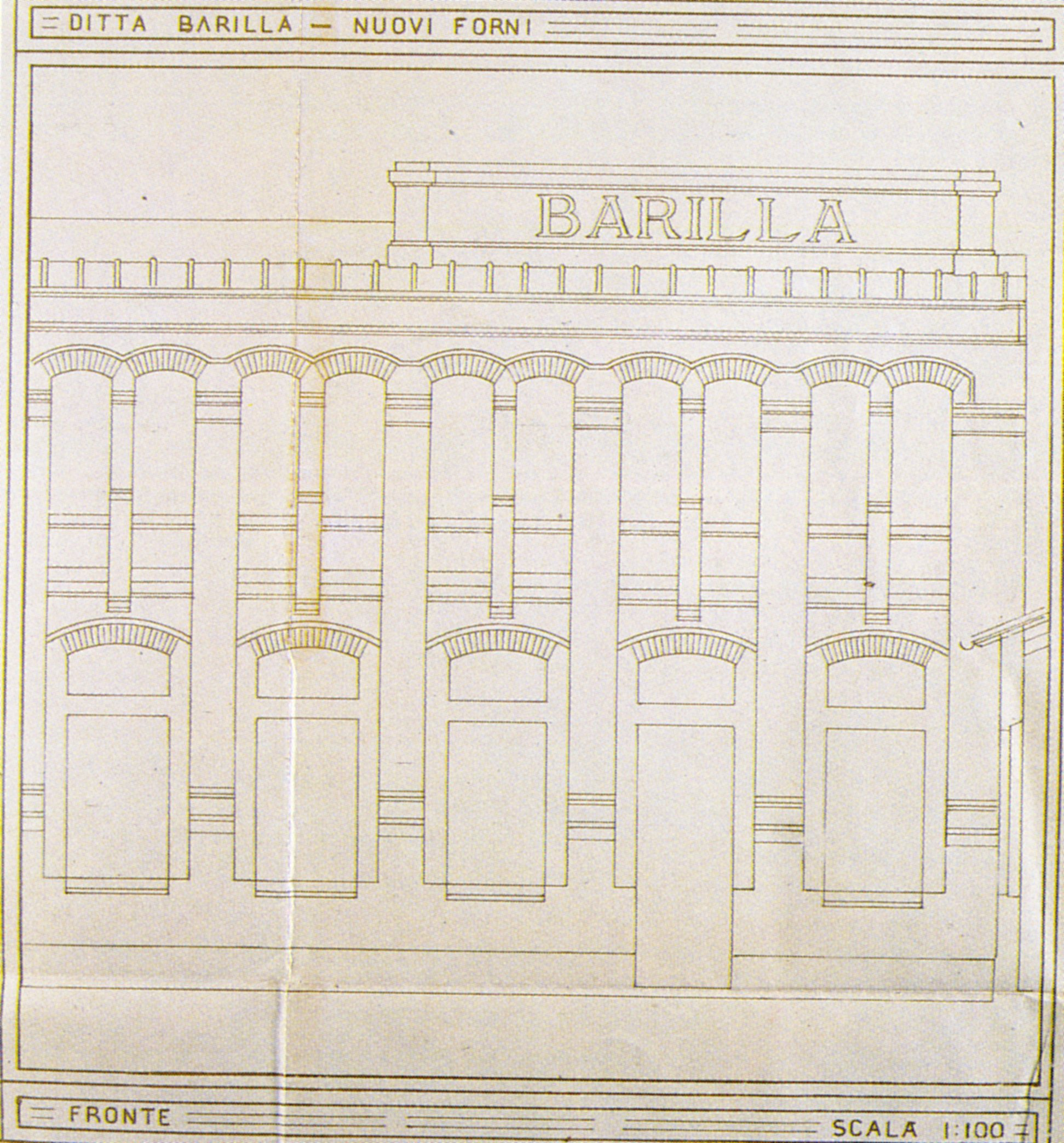 Camillo Uccelli, Design for the New Ovens, 1923: south perspective design [ASCPR, building licenses, 1922/293].