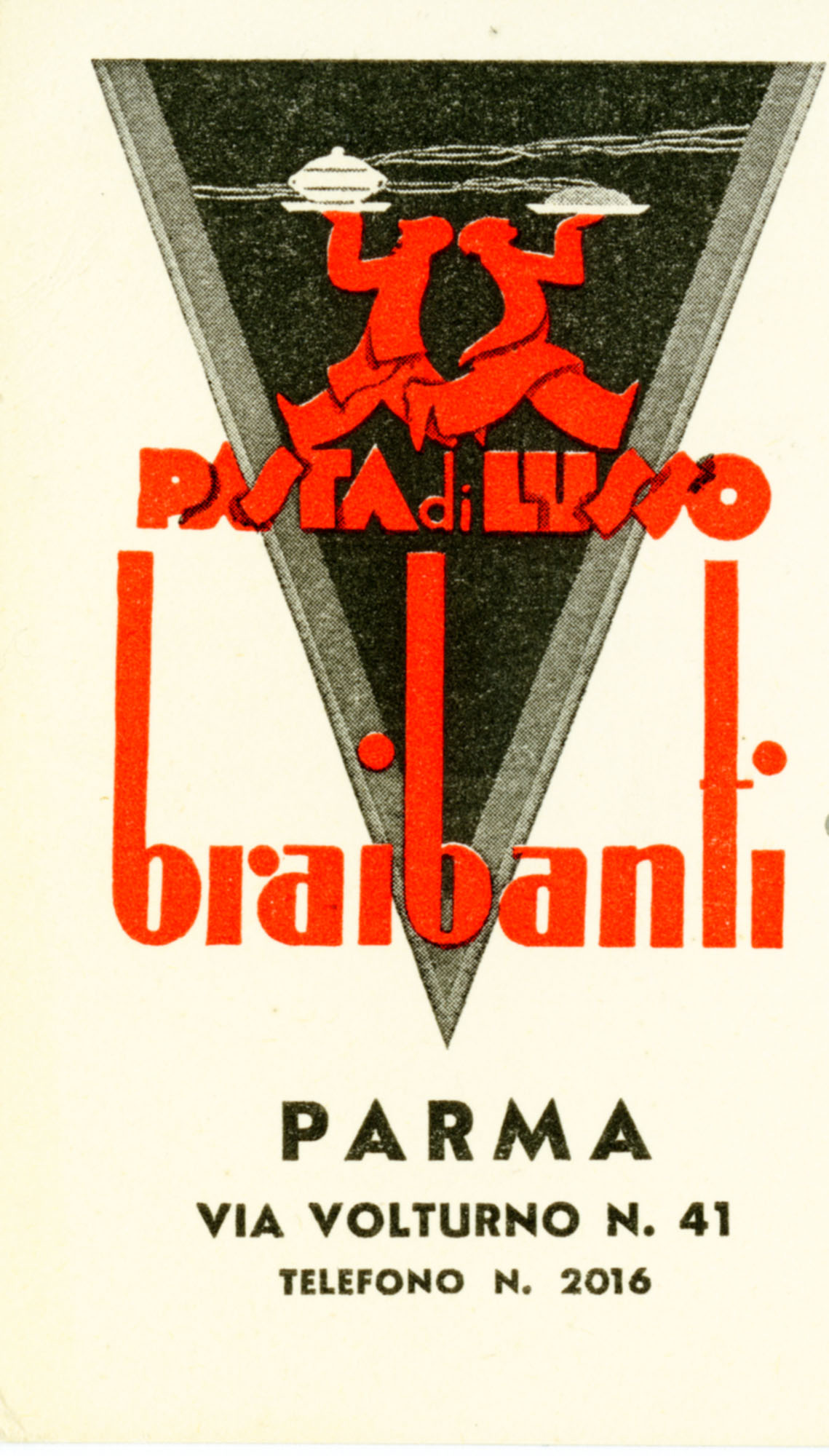Braibanti Brand, 1938