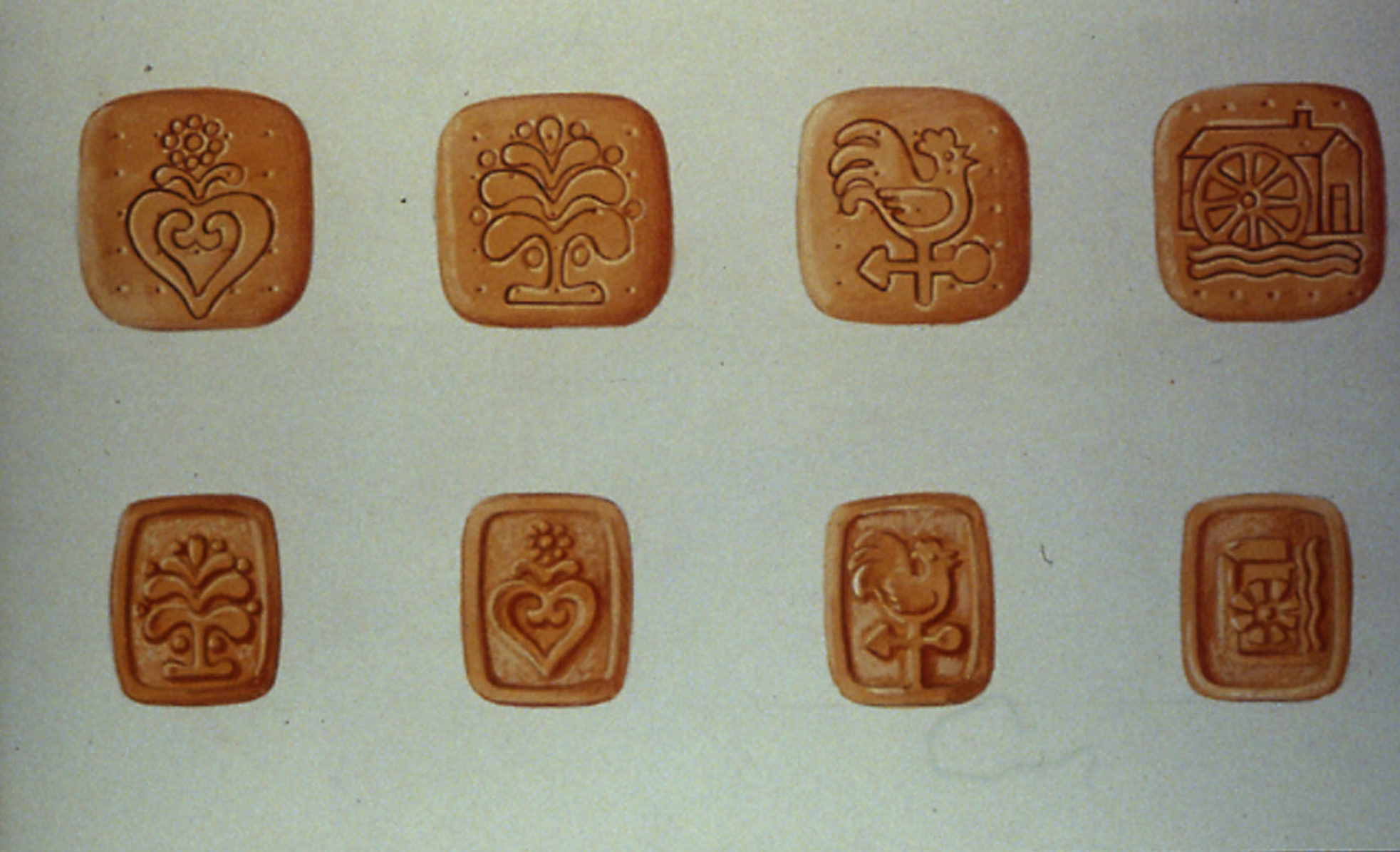 First studies for Mulino Bianco biscuits shape