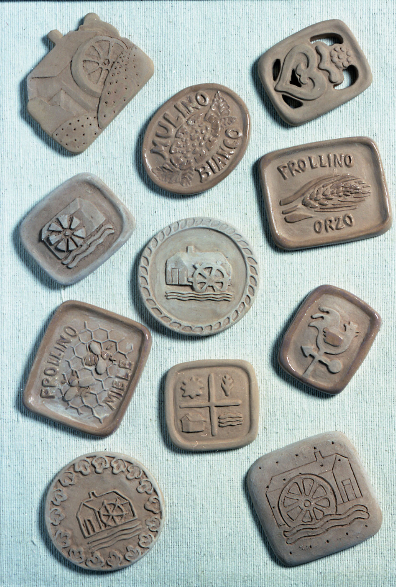 Crock molds for testing the shapes of the first Mulino Bianco biscuits