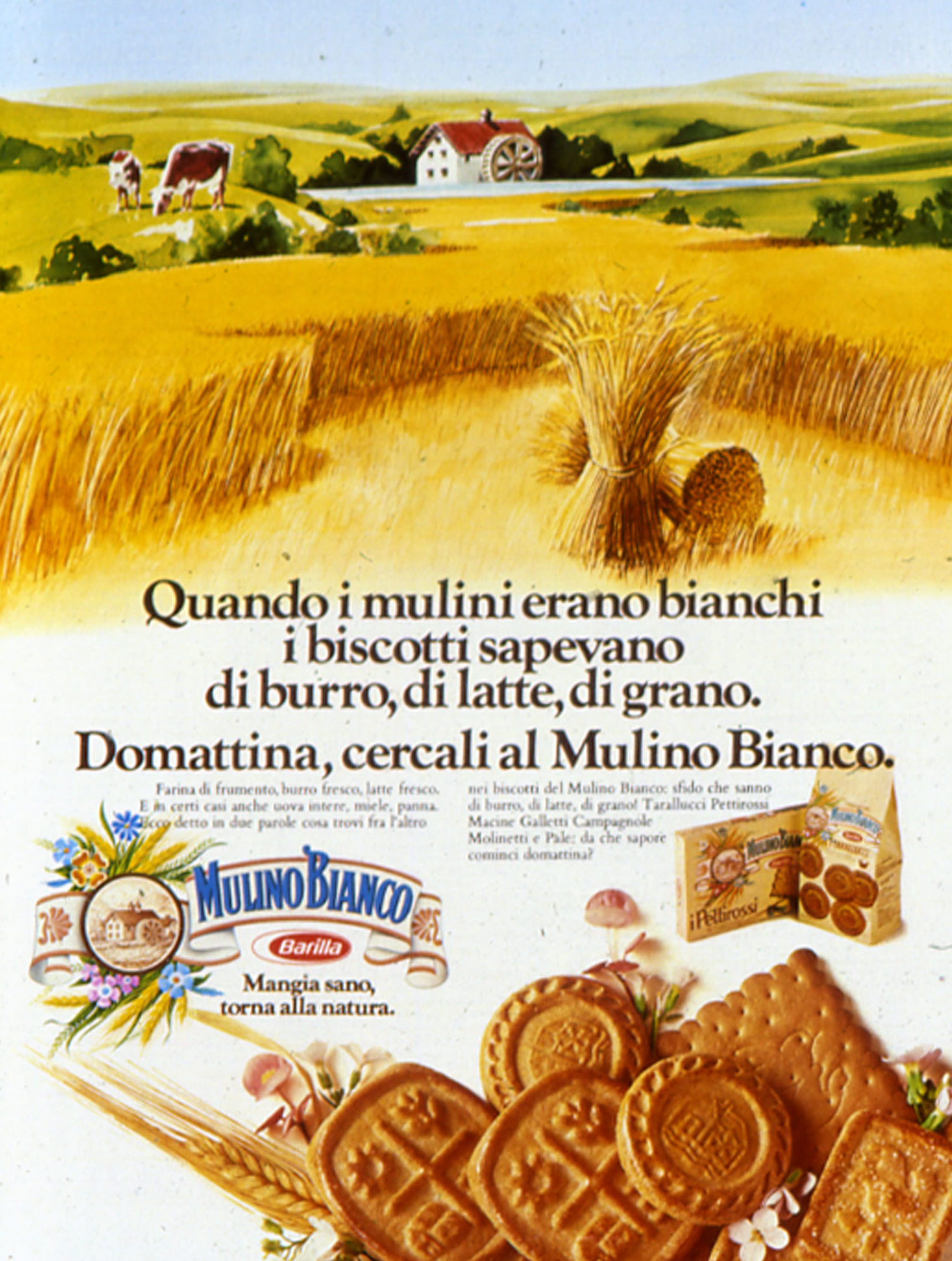 Press advertising of Mulino Bianco, 1976