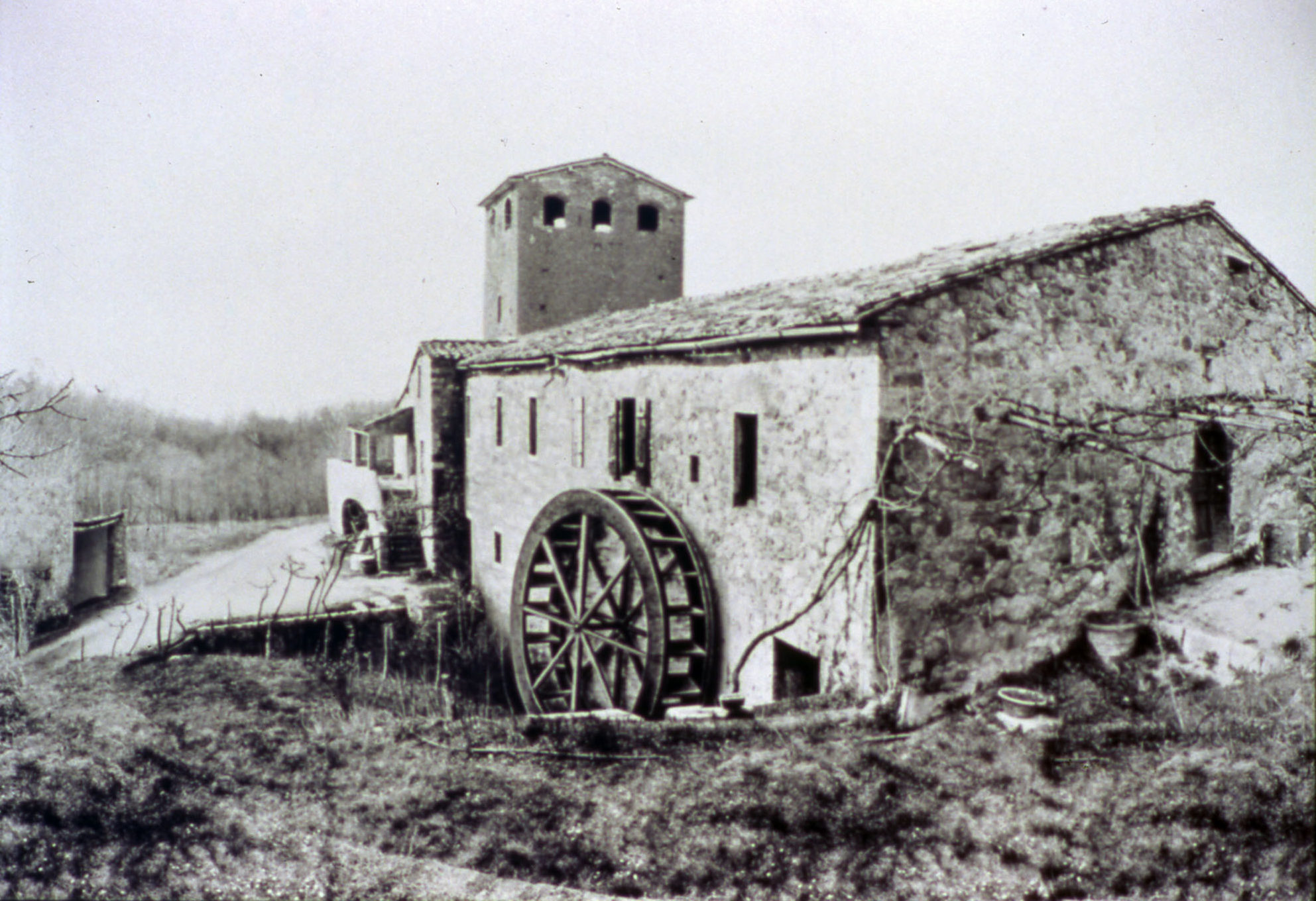 Chiusdino Mill before the interventions for the advertising setting in 1990