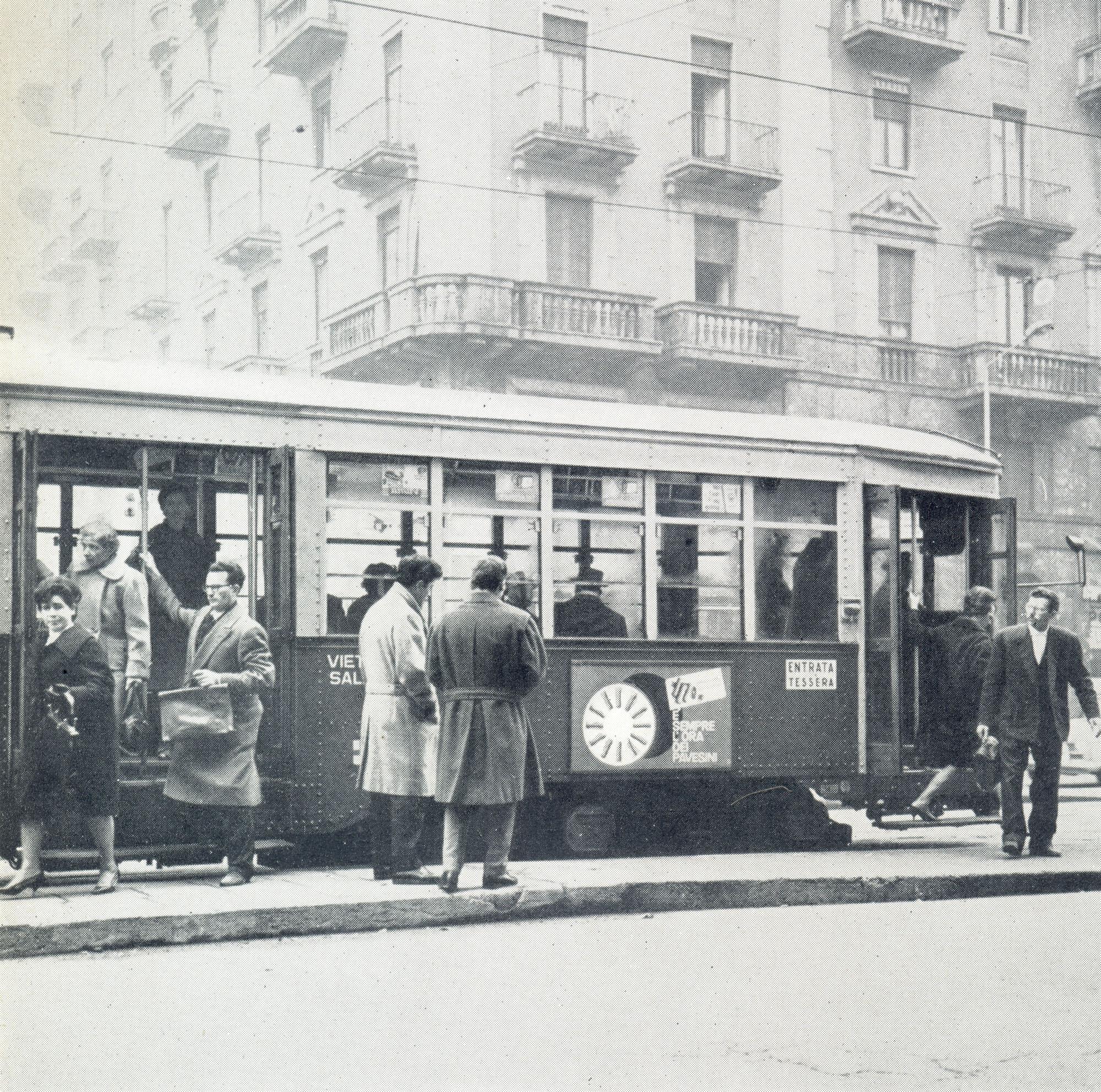 Pavesini posters on public transports - Erberto Carboni, 1960