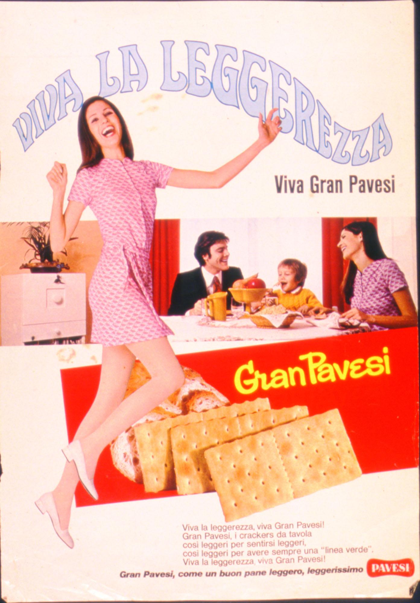 Press advertising Gran Pavesi Crackers, 1970-1972