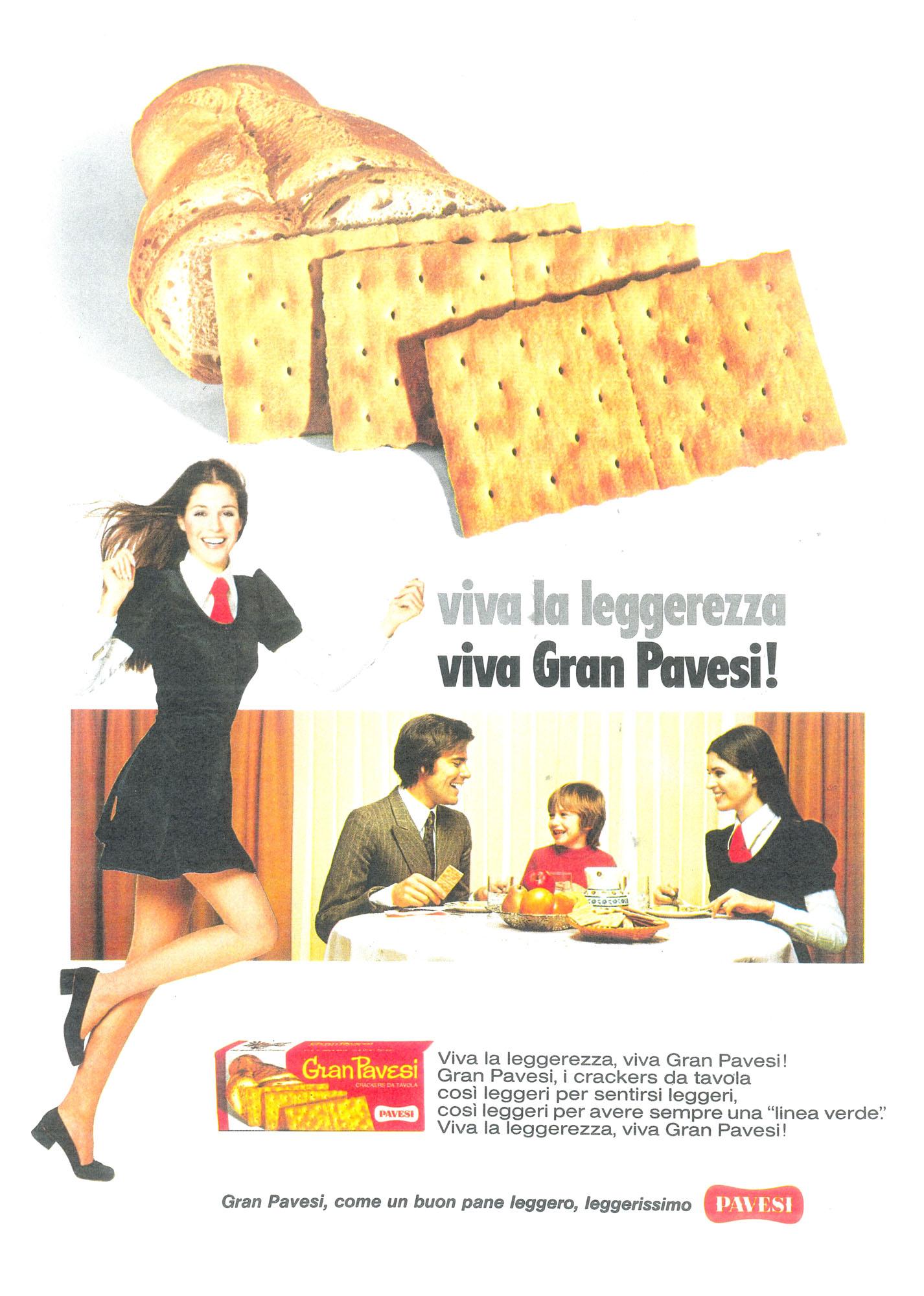 Press advertising Gran Pavesi Crackers, 1972