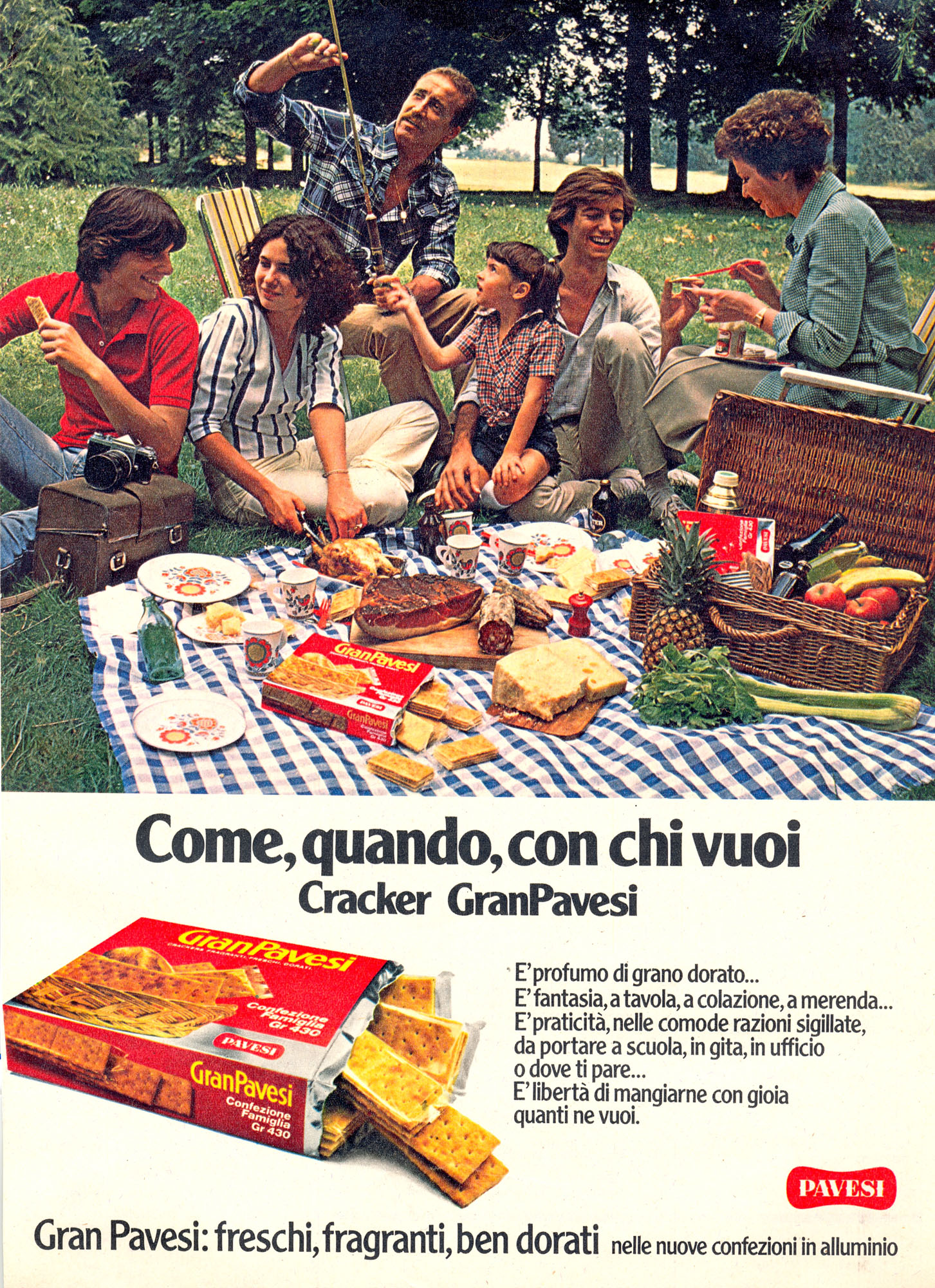 Pubblicità stampa Crakers Gran Pavesi, 1978