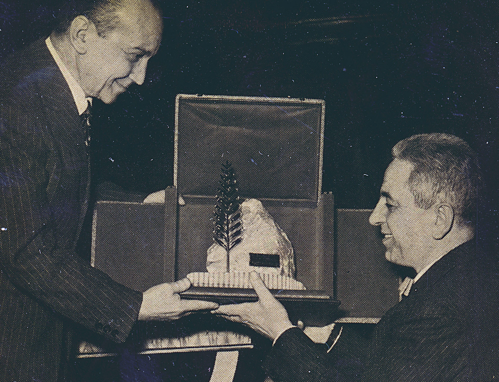 Mario Pavesi receives the Palm d'Or for advertising for the Pavesini campaign in 1956