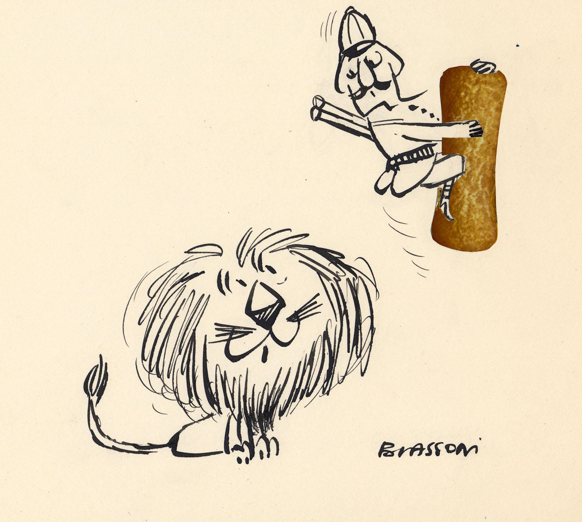 Cacciatore e leone