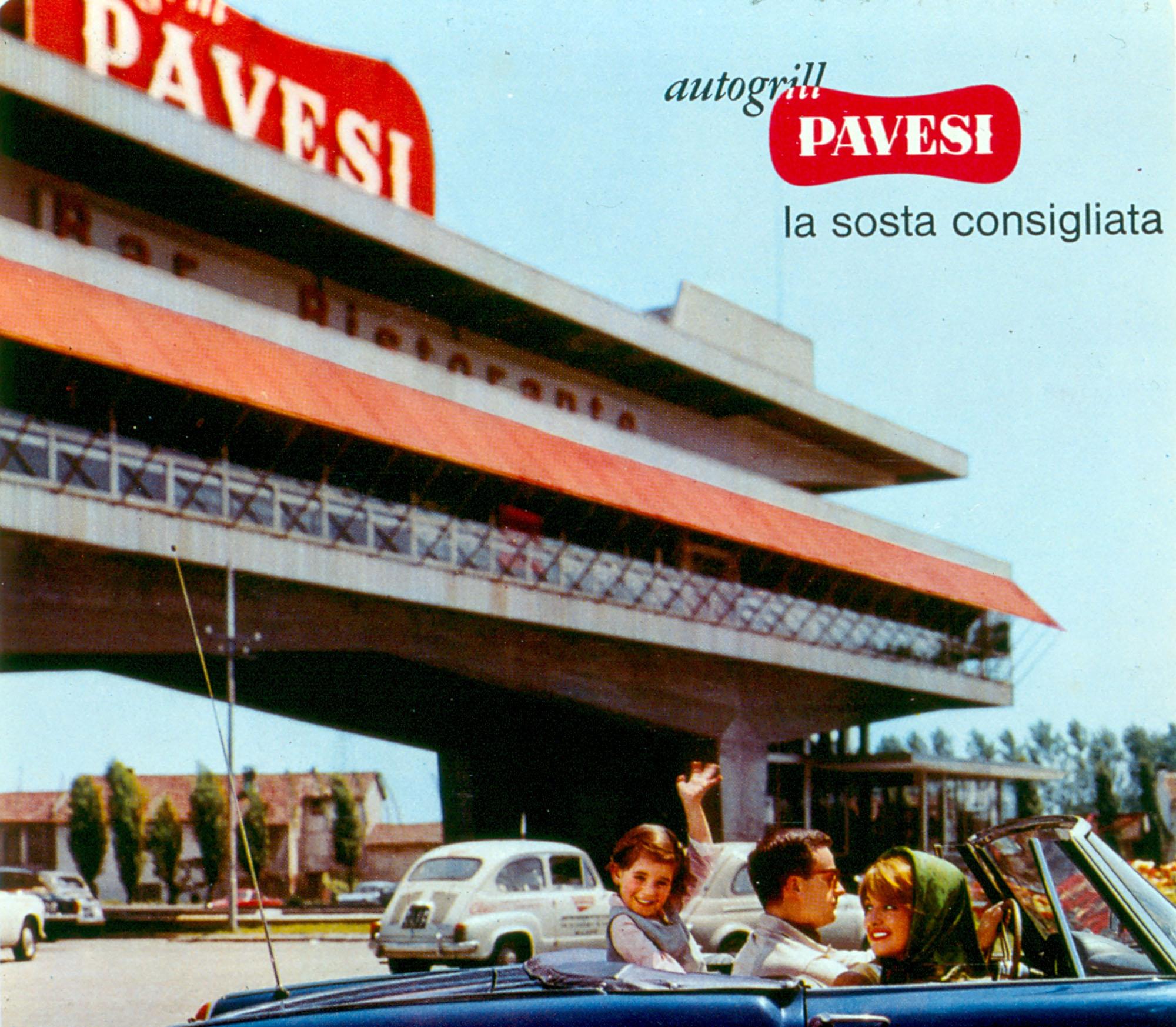 Pavesi Service Stations adv, 1962