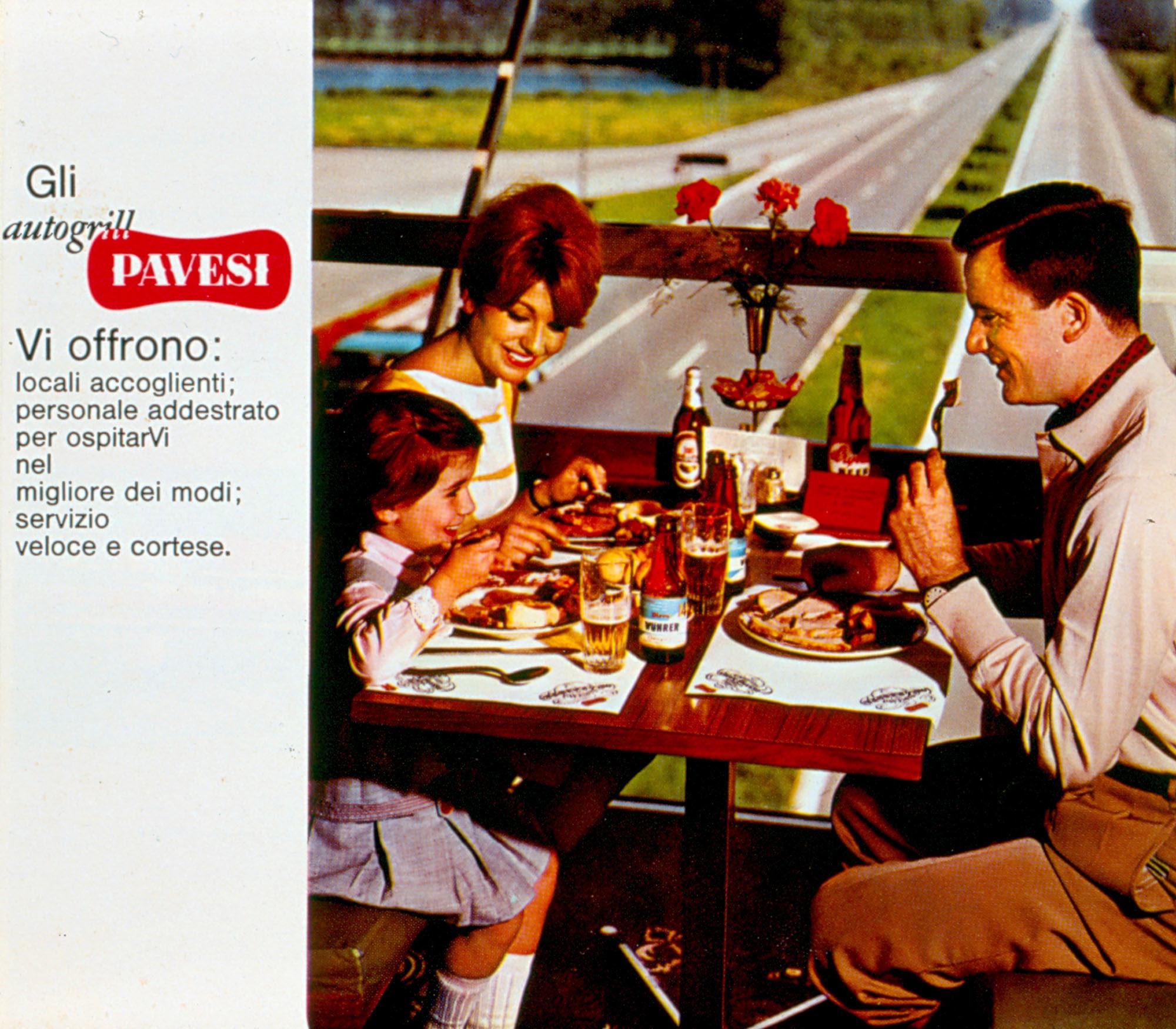 Pubblicità degli Autogrill Pavesi, 1963