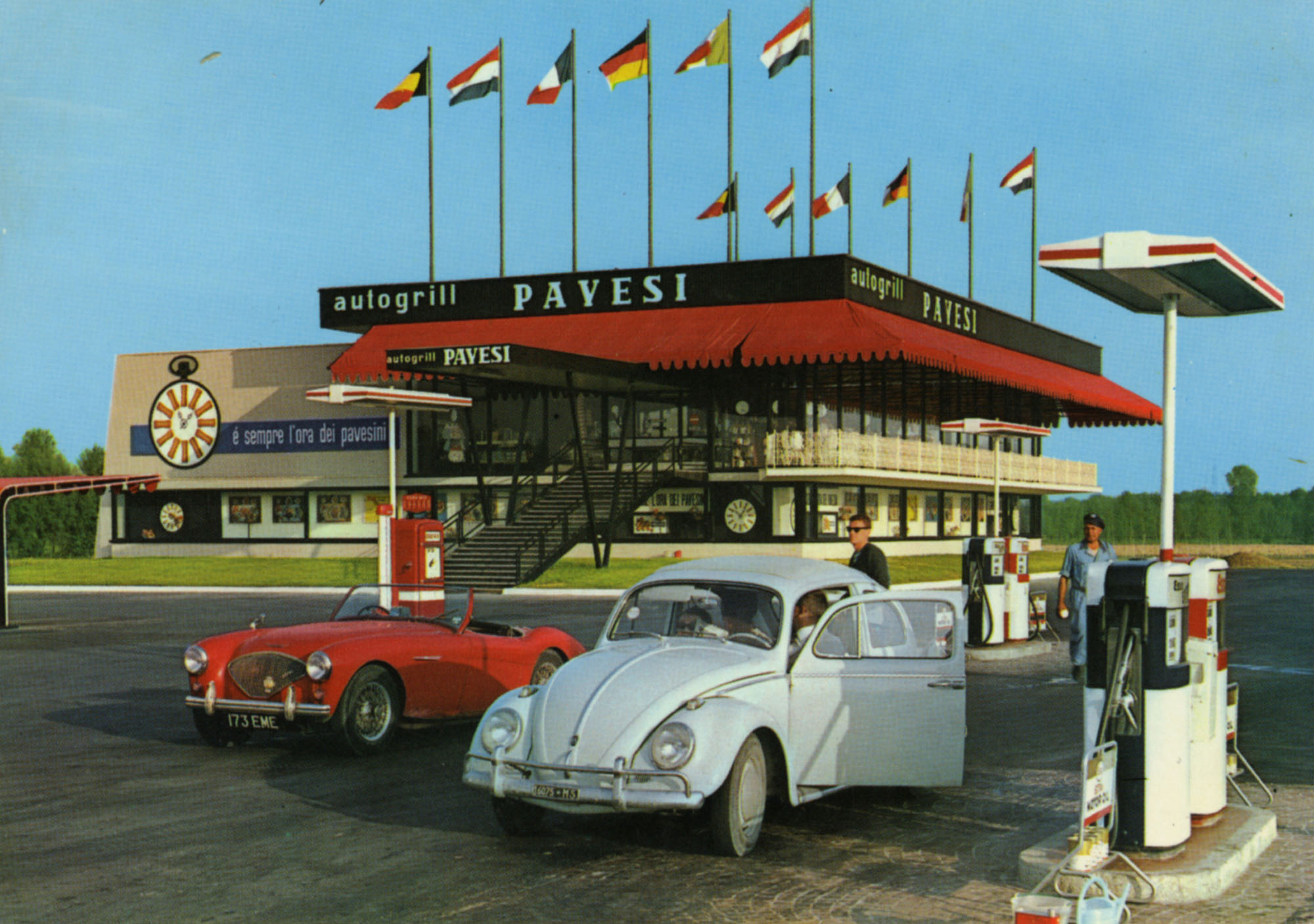 Cartoline Autogrill Pavesi - Lodi