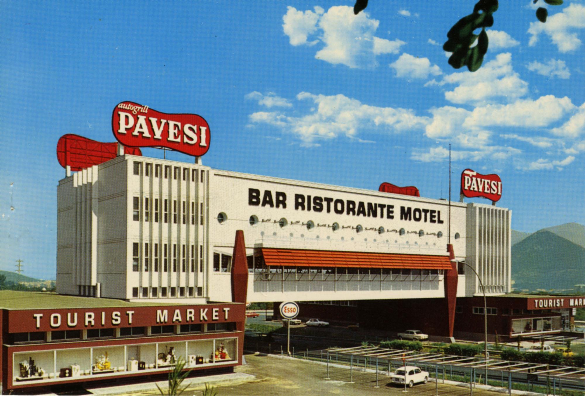 Pavesi Service Station postcard- Nocera