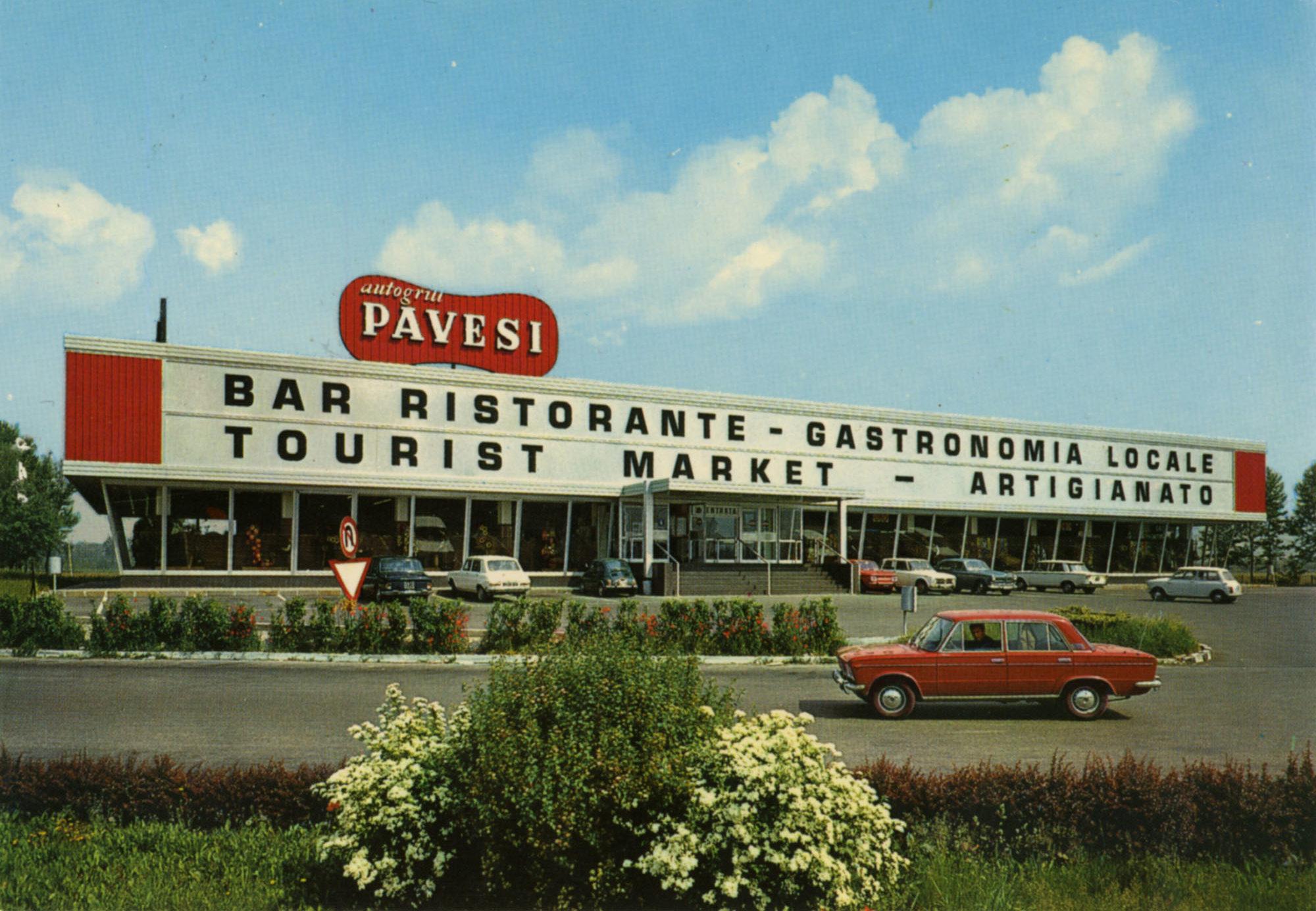 Pavesi Service Station postcard - Rezzato