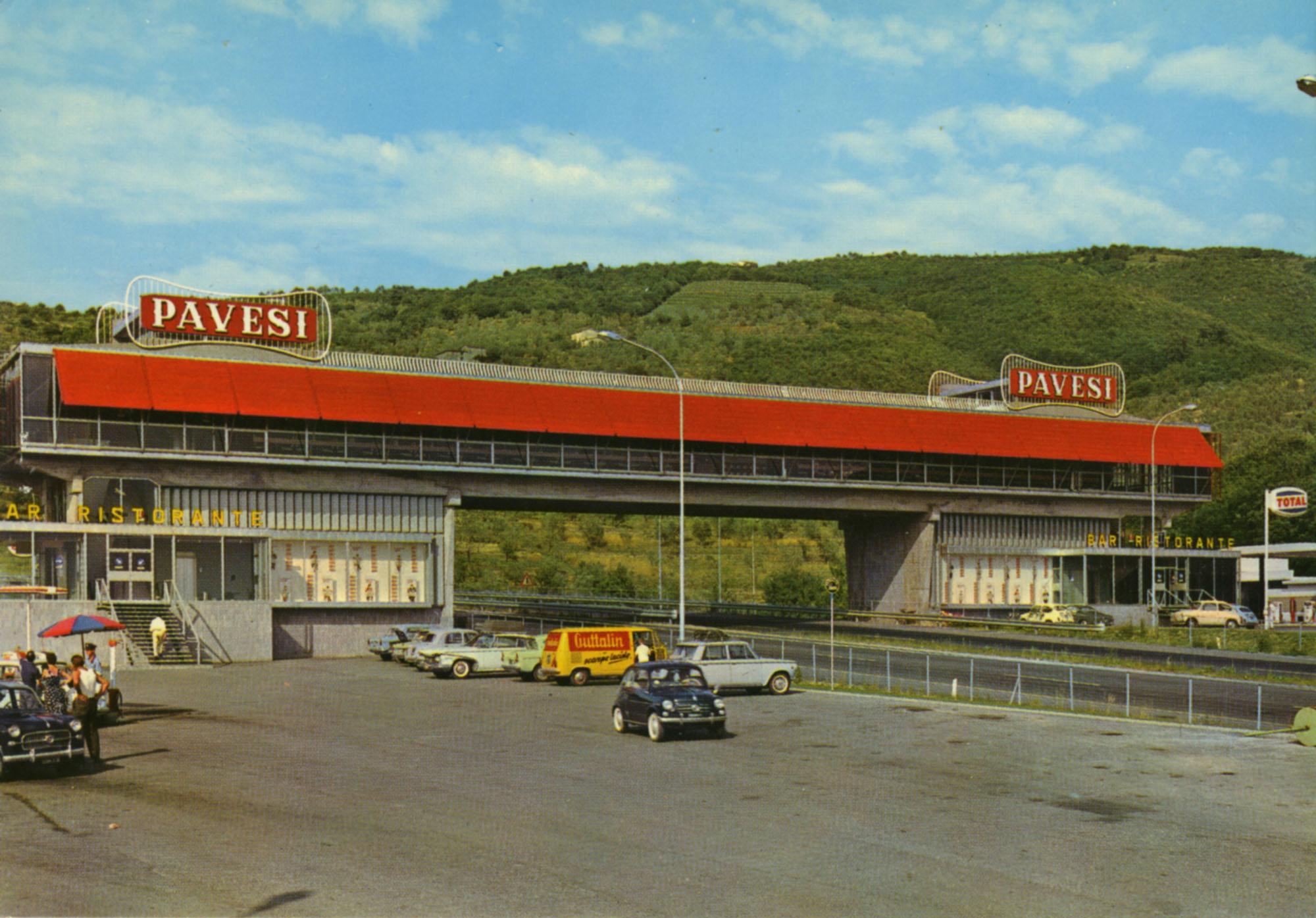Pavesi Service Station postcard - Serravalle Pistoiese