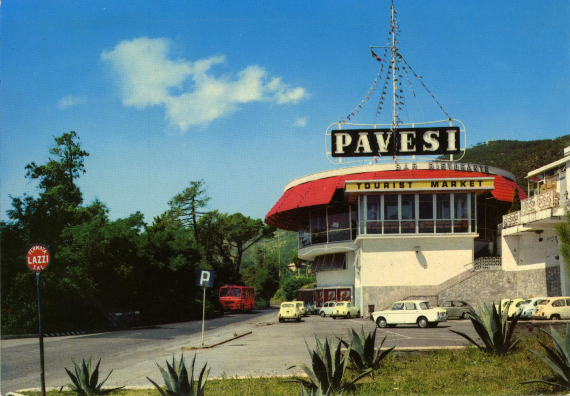 Pavesi Service Station postcard - Varazze