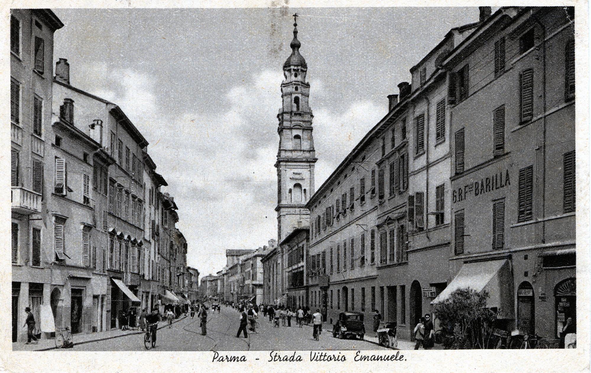 1877 - Il negozio Barilla in strada Vittorio Emanuele