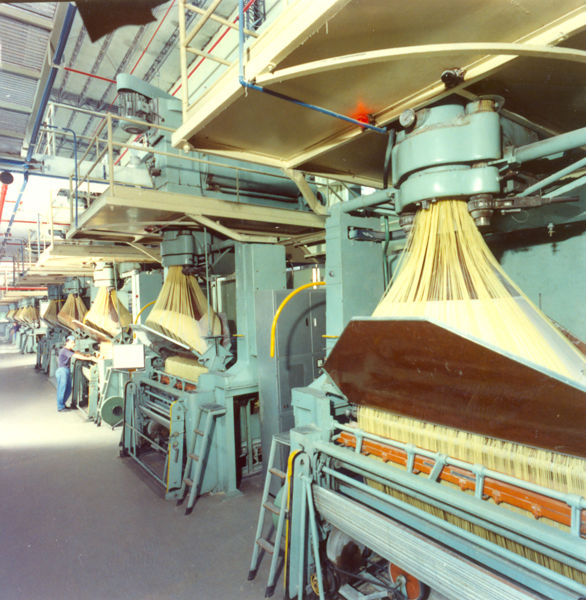 1960 - The innovative pasta production line in the plant of Parma in the Sixties