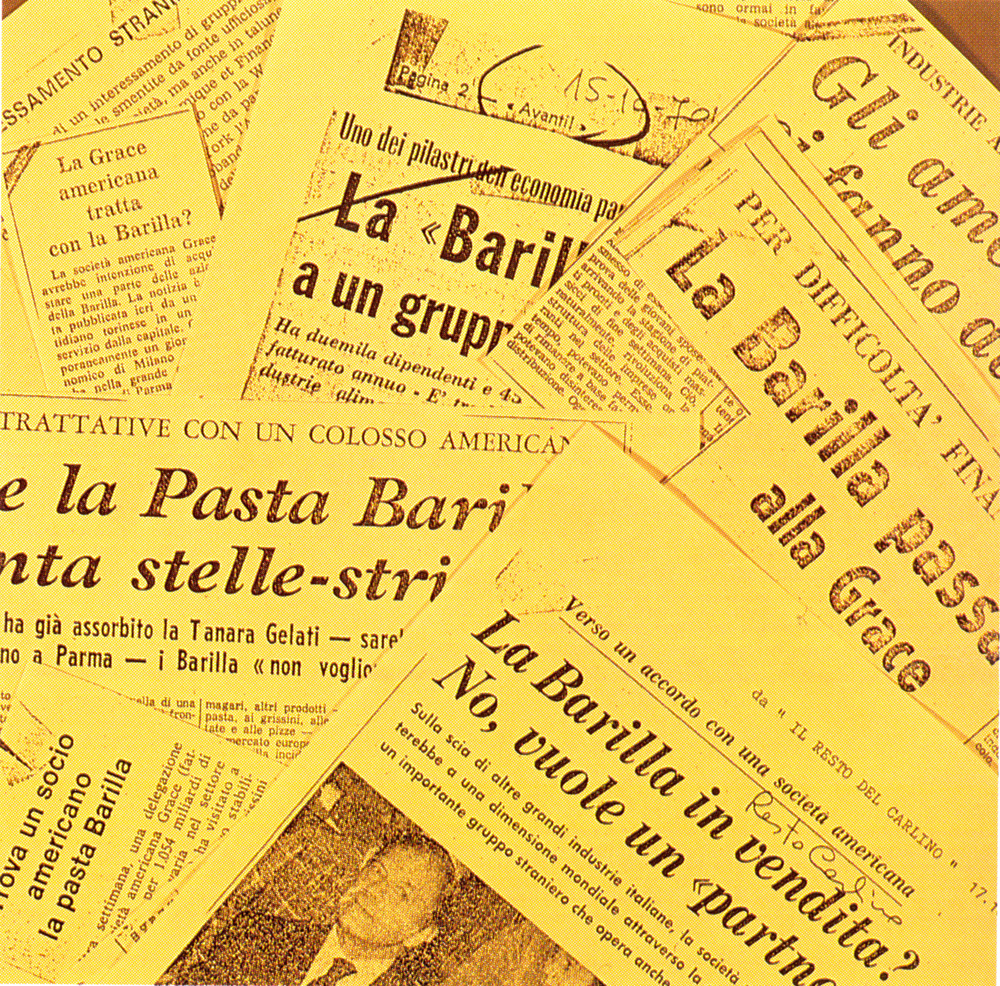1971 - The news of the Barilla Pasta Plant's sale is on the National press