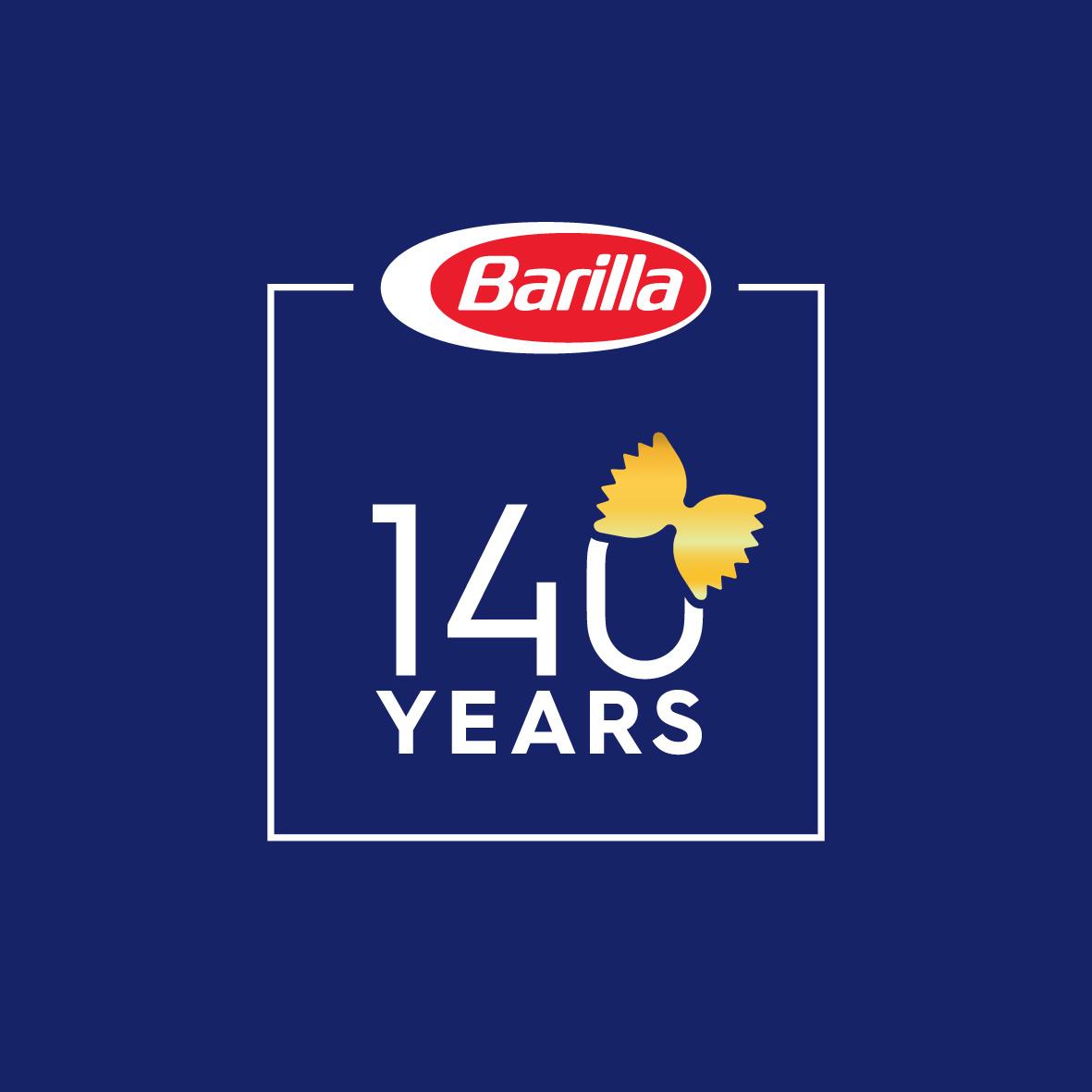 2017 - Il logo del 140° anniversario di Barilla
