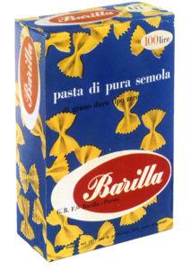 Erberto Carboni, Packaging per la pasta Barilla, Farfalle, 1956.