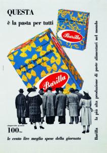 Erberto Carboni, Questa è la pasta per tutti, Pubblicità stampa per la pasta Barilla, 1959.