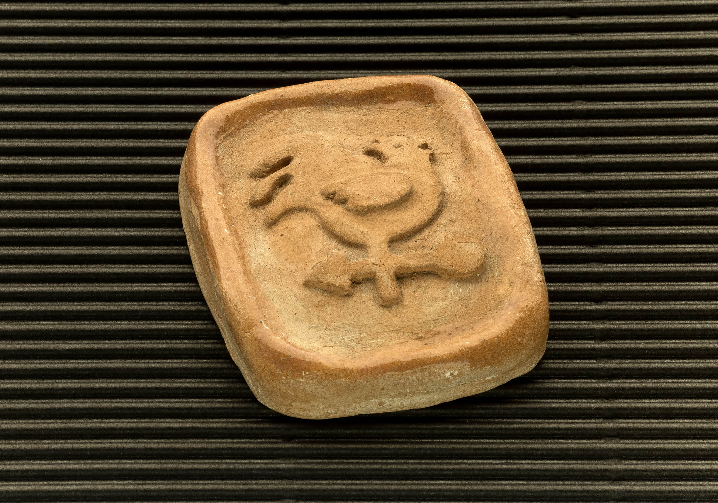 Three dimensional terracotta shapes of Mulino Bianco biscuits - 02