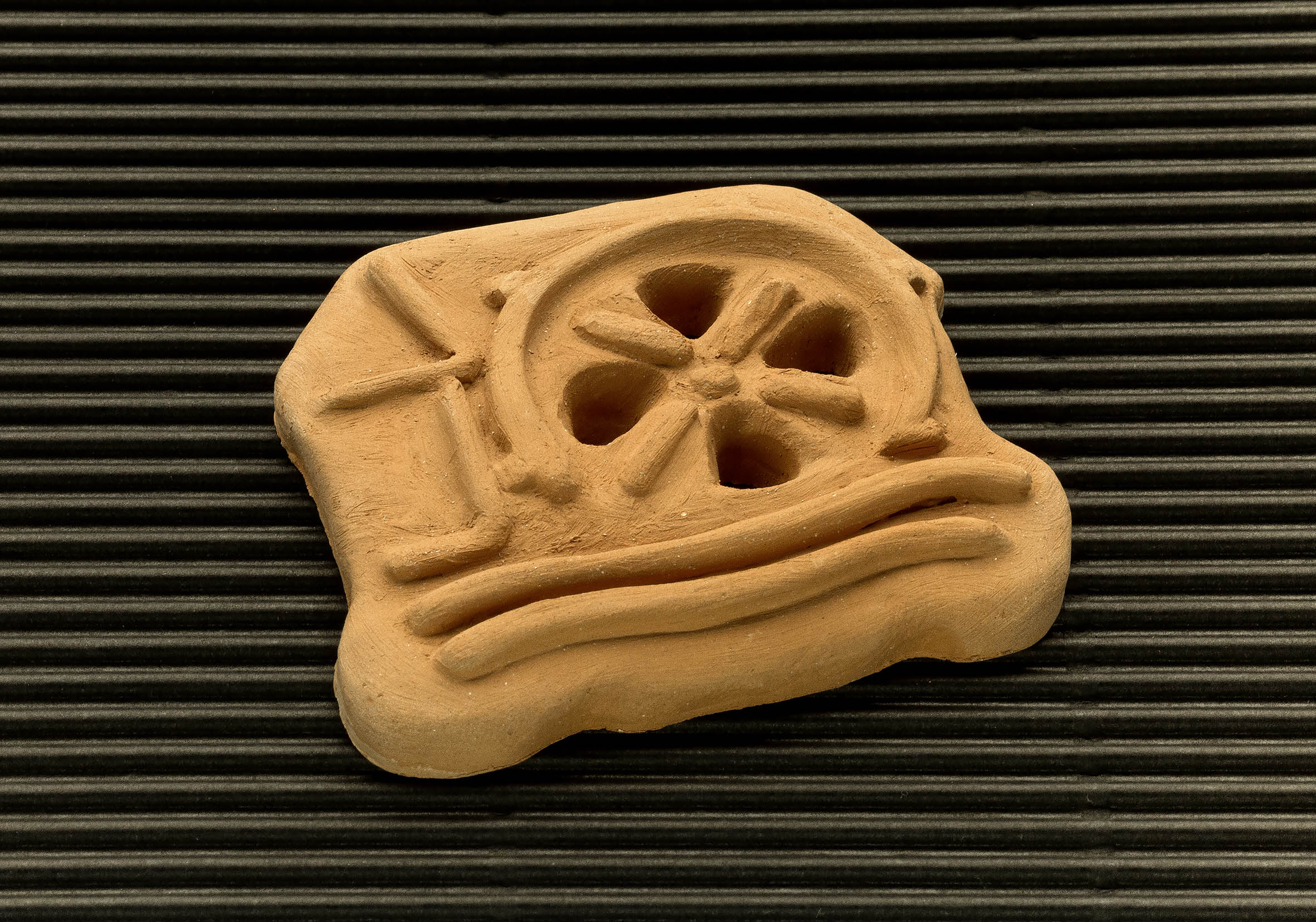 Three dimensional terracotta shapes of Mulino Bianco biscuits - 06