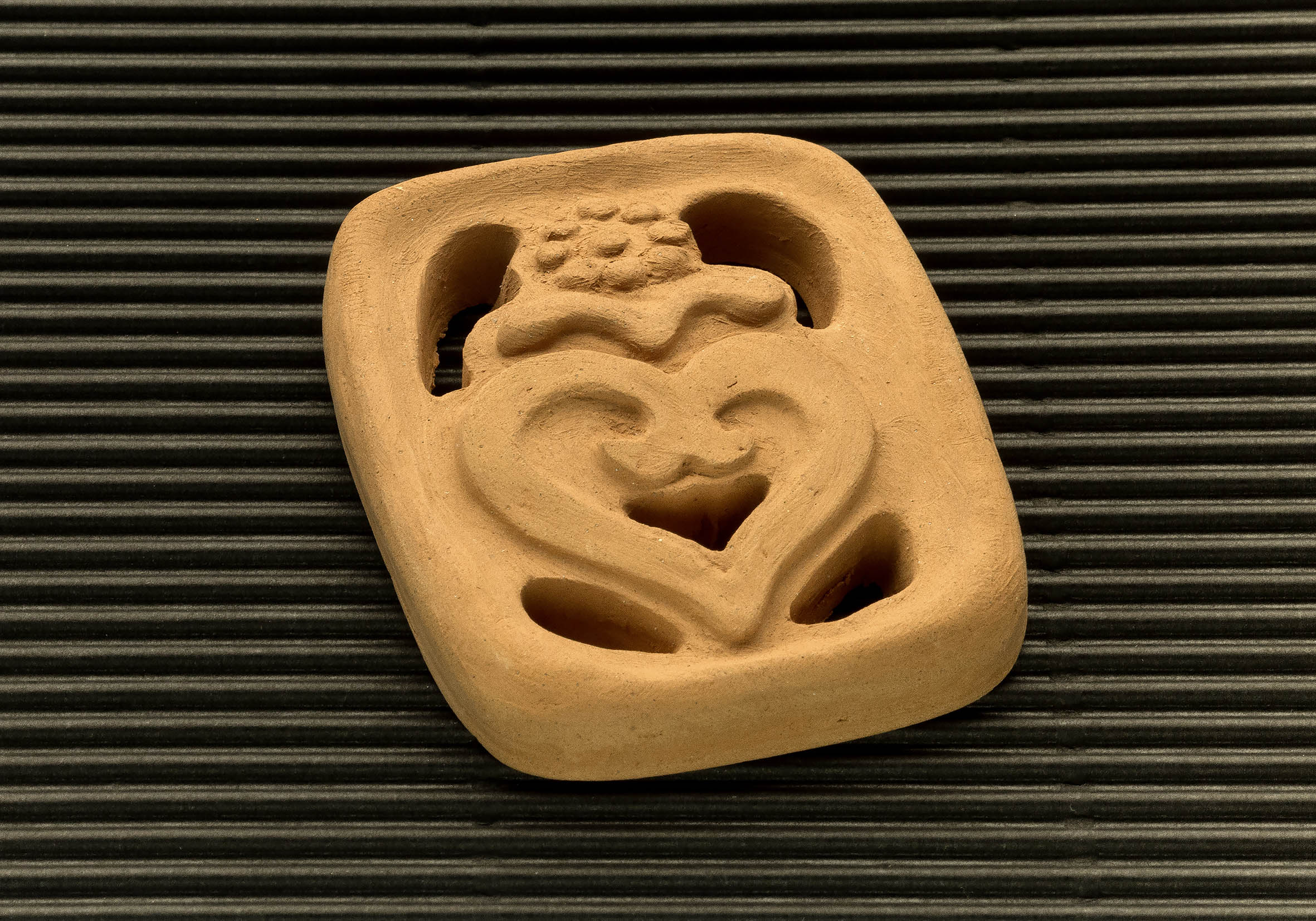 Three dimensional terracotta shapes of Mulino Bianco biscuits - 07
