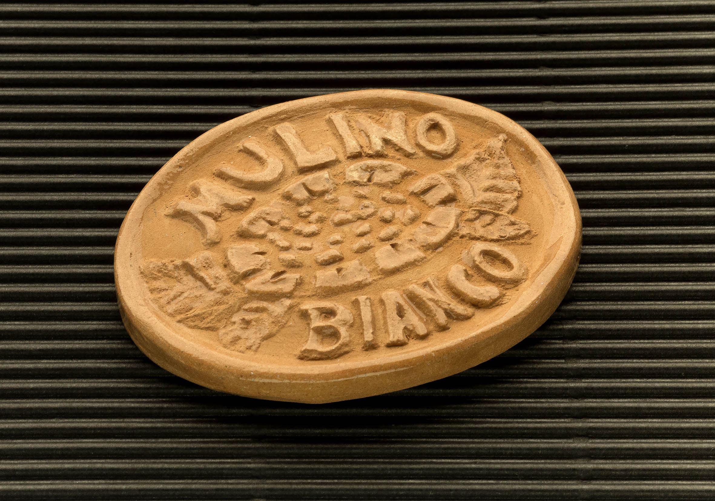 Three dimensional terracotta shapes of Mulino Bianco biscuits - 09