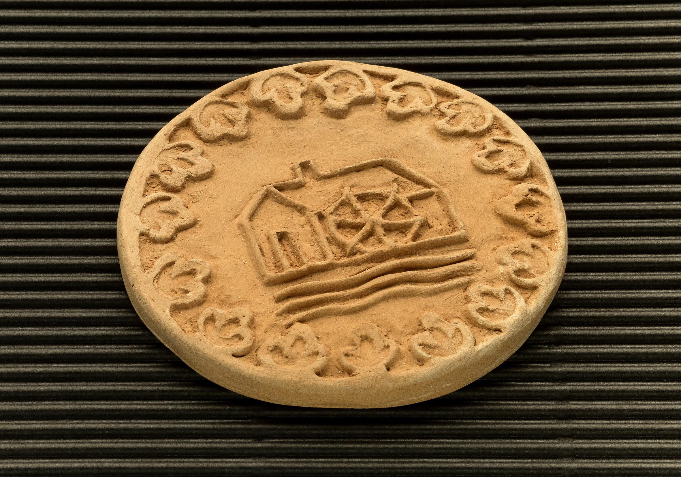 Three dimensional terracotta shapes of Mulino Bianco biscuits - 11