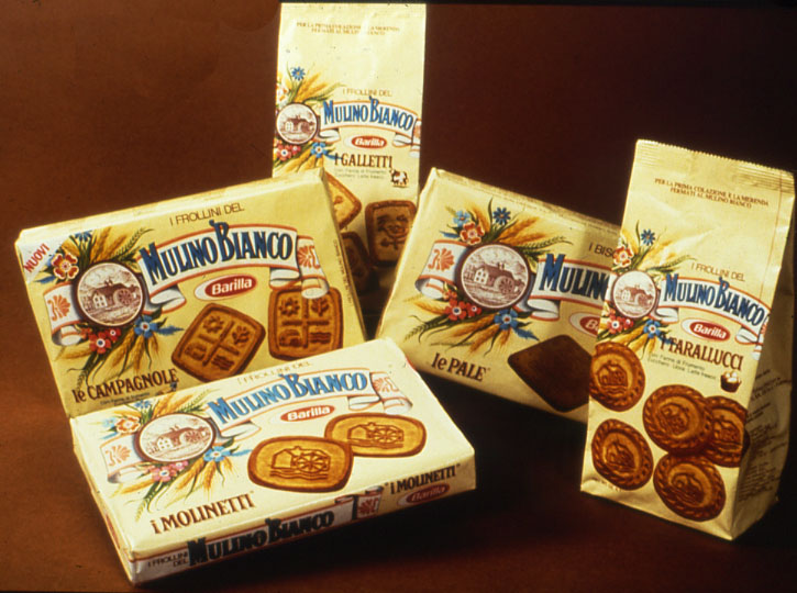 The first five biscuits of the Mulino Bianco range launched in 1976 - 02