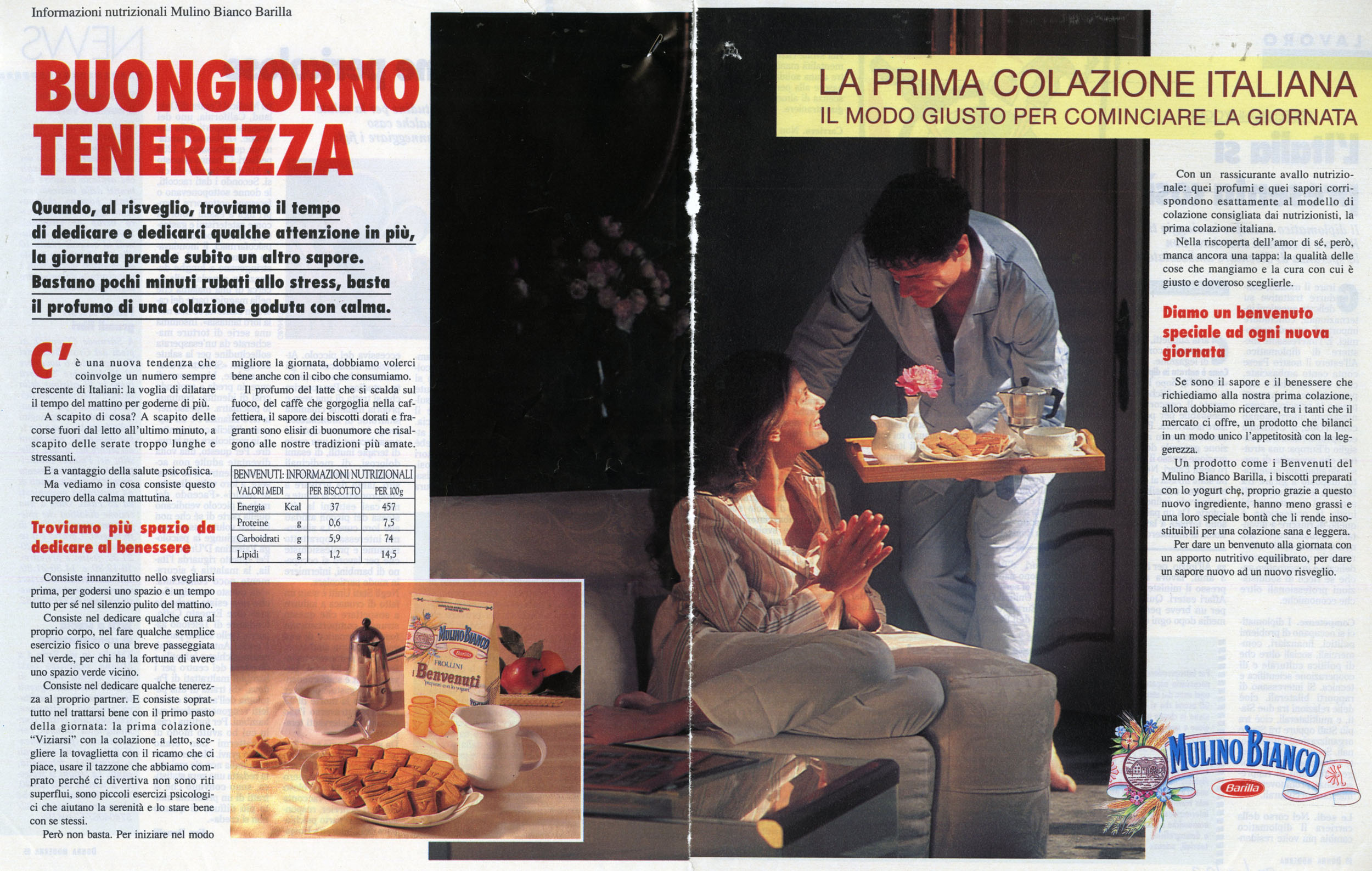 Press Advertising Campaign of the first Italian Breakfast 1992-1993 - 02