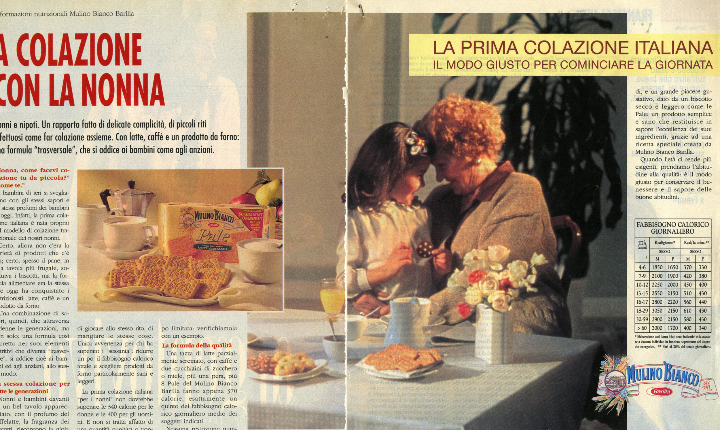Press Advertising Campaign of the first Italian Breakfast 1992-1993 - 03