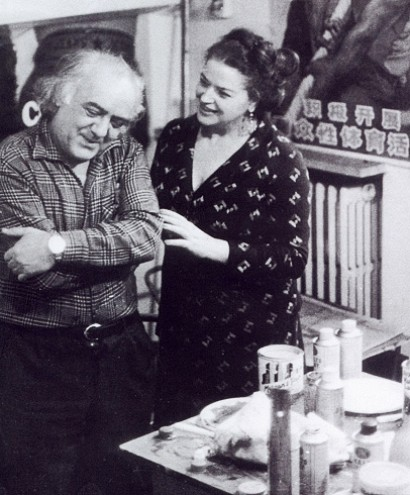 Guglielmo Lusignoli with his wife Anna