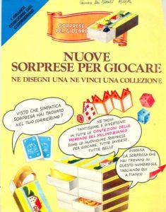 In Pack Sorpresine's Advertising Page - 1984