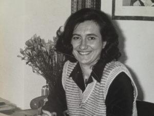 Graziella Carbone in the CIN office in Milan in 1983
